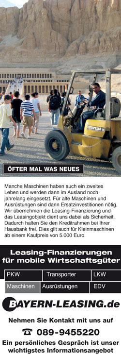 Maschinen Leasing Anfrage